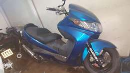 Skywave suzuki motorbike up for sale. Blue and black in colour. Both f