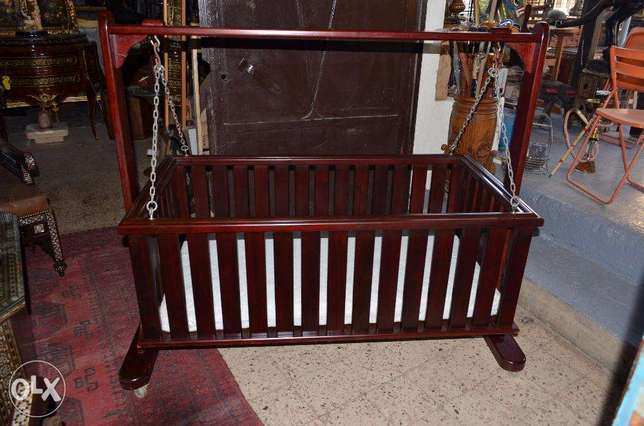 antique baby bed solid wood