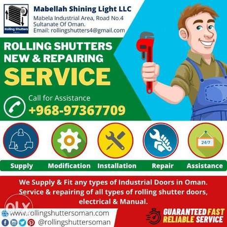 Rolling shutters doors Supply and Fixing new and Repairing