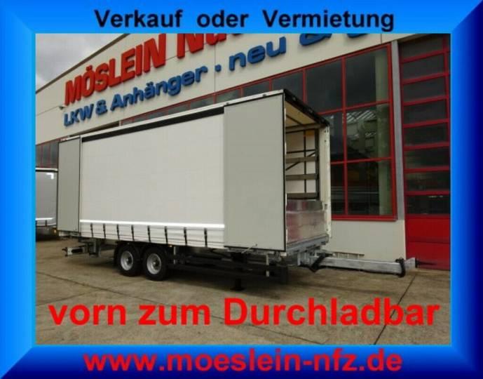 Möslein TPW 105 D 6,20 Tandem- Schiebeplanenanhänger zum - 2019