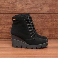 Ботинки женские замшевые черные на платформе 38 3c0360729dd72