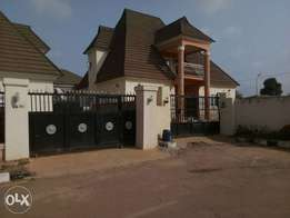 A 4bedrooms paint house for rent at palm height homes Lugbe