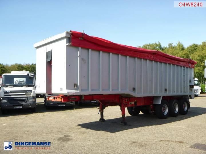 Wilcox Tipper trailer alu 54 m3 + tarpaulin - 2005