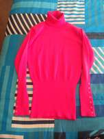 Pink Polo neck Jersey
