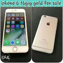 Iphone 6 16gig gold for sale