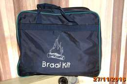 Braai set for sale in carry bag
