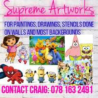 Paintings on your walls or other backgrounds