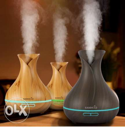 wooden Air Purifier Ultrasonic Aromatherapy Humidifier لتنقية الهواء