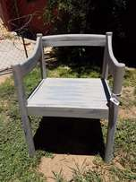Painted Grey/Blue Occasional Chair J 611
