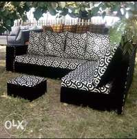 Classic L shaped sofa