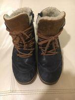 d0a12d70 Bartek-Granatowo-beżowe ocieplane buty r.33