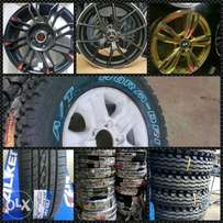 New tyres and rims in different brands at unbeatable prices in town