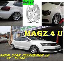 Mags 4 u wheel & tyre experts.. 3sdm star performer 20 5/100 17""