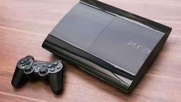 ps3 super slim 500gb with 22 games on HDD