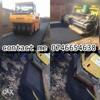 Tar surfacing driveways and parking