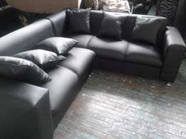 5 seater leatherette couch