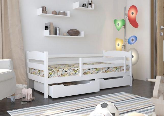 łóżeczko Dziecięce Drewniane Z Barierką Ochronną