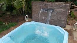 Fiberglass stone waterfeature