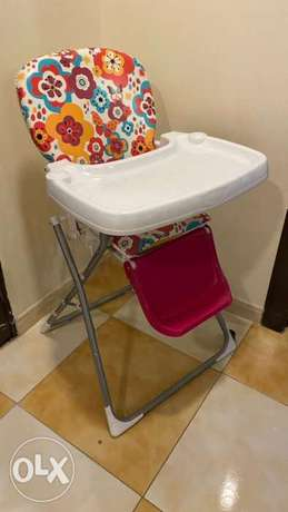 Multicolor babies foldable high chair الدمام -  3