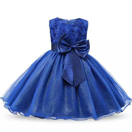Sukieneczkasukienka granatowa wesele roczek urodziny z
