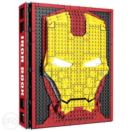Iron Man Collections Book Fit Lepining Marvel Avengers Building Blocks