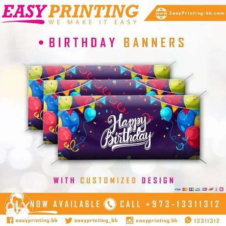 Birthday Banners Printing - with Free Design & Delivery.
