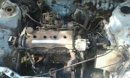 Toyota corolla 1.6 engine & gearbox for sale.