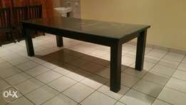 8-10 seater dining table with glass top
