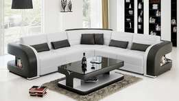 Afro L shaped sofa + a coffee table