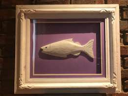 Beautiful, Large, Framed Wooden fish