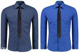 Blue and Navy Blue Official Shirts for Men 2 Pack