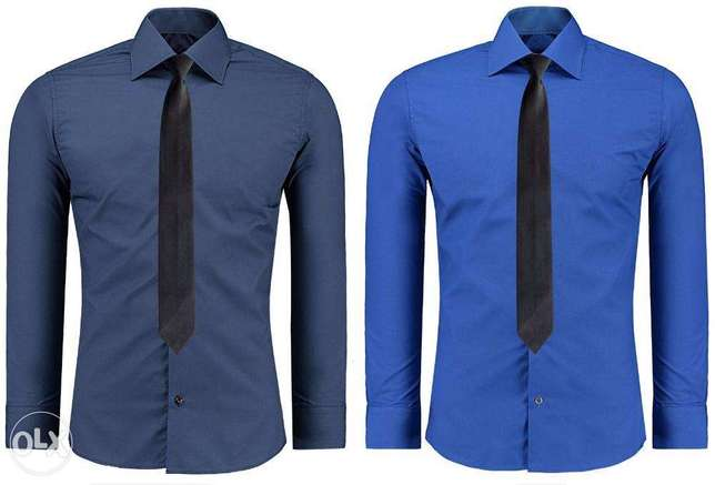 Blue and Navy Blue Official Shirts for Men 2 Pack Nairobi CBD - image 1