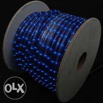 """Blue 1/2"""" Rope Light 50meter Reel, 120 Volt Free Power and Clip Access"""