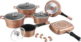 New Exclusive Royalty Line 15-piece marble cookware set (Switzerland)