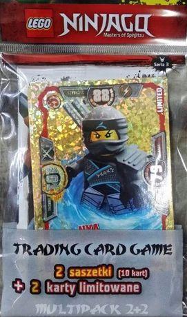 Masywnie Multipack lego ninjago seria 3, 2 karty limited edition 2 saszetki LZ86
