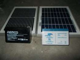 Two solar panels and two batteries all for R440