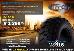 10-16.5 Tyres from ONLY R1299 + VAT | PLUS MORE at TirecityAfrica
