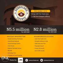 Plots of Land for Sale at SunnyLand Courts, Ibeju Lekki