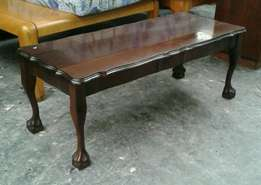 Vintage embuia ball and claw coffee table