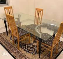 food table with chairs for sale like a new one