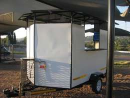 Mobile tuck-shop - 2,4m Fast Food trailer - new - equipped