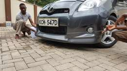 Toyota vitz RS SPORTS fresh stock kcm loaded with spoiler on offer gt