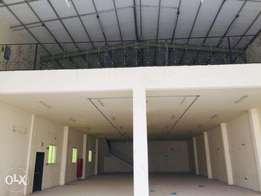 Spacious large Store and Office Space for Rent in industrial area