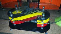 unic center glass table