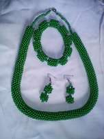 Beaded necklaces,bracelets and earings