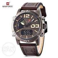 Dual Leather strapped men's watch