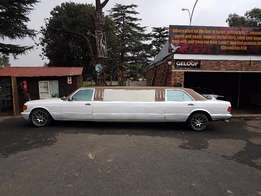 streched limo mercedes 380 se