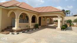 4 bedroom bungalow with 3 units BQs at Elebu