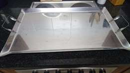Braai Bargain ! Large Stainless Steel Braai tray with handles !