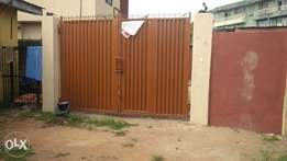 A newly renovated 3 bedroom duplex with self compound.